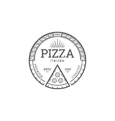 Pizza logo template vector