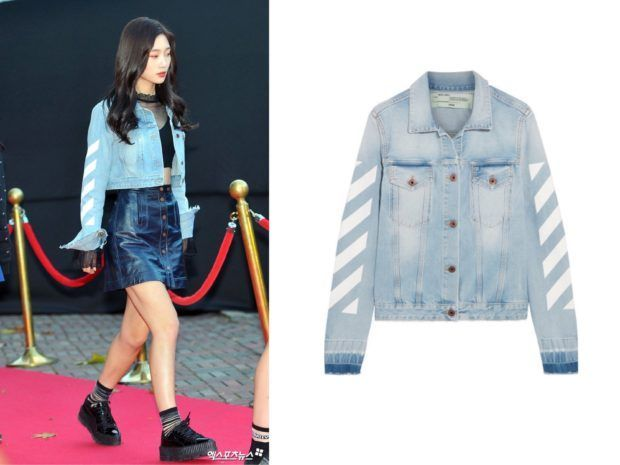 Image Result For Shoes Kpop Idols Wear Light Blue Denim Printed Denim Jacket Blue Denim Jacket