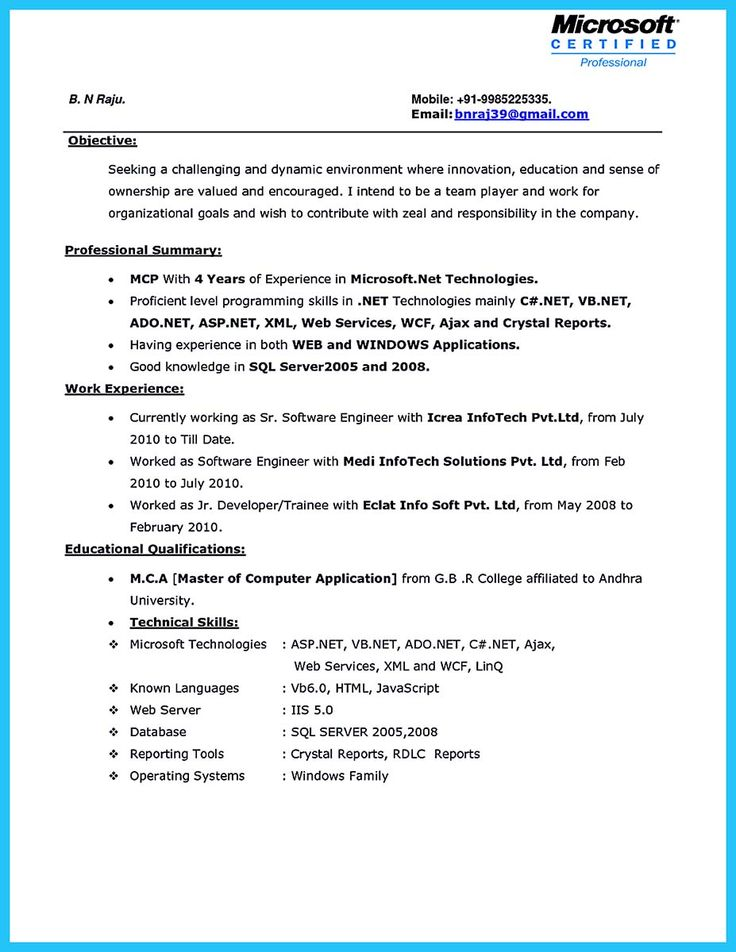 Sql Server Resume Sample | Resume Cv Cover Letter
