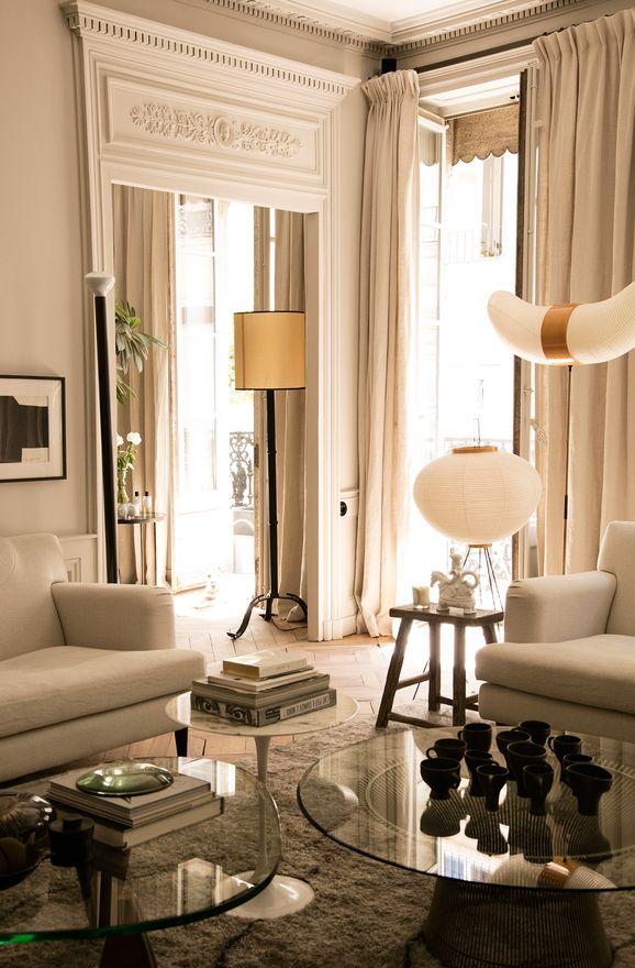 More interior inspiration on www.ringthebelle.com home / interieur / inspiration / lyon / Maison Hand / decoration / living room / noguchi / #ringthebelle / #storystore / #maisonhand