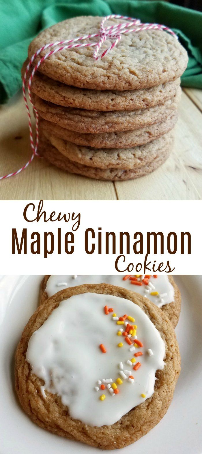 These cookies are kissed with the warmth of maple and brown sugar and a hint of cinnamon.  They are big and chewy and oh so good! #oxogoodcookies #yummy #cookies #ad
