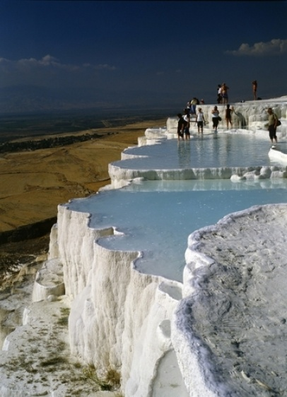 Pamukkale Turkey- this place you have to see to believe! Beautiful :)