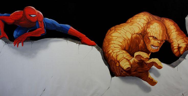 Decoration Murale Batman Spiderman Captain America