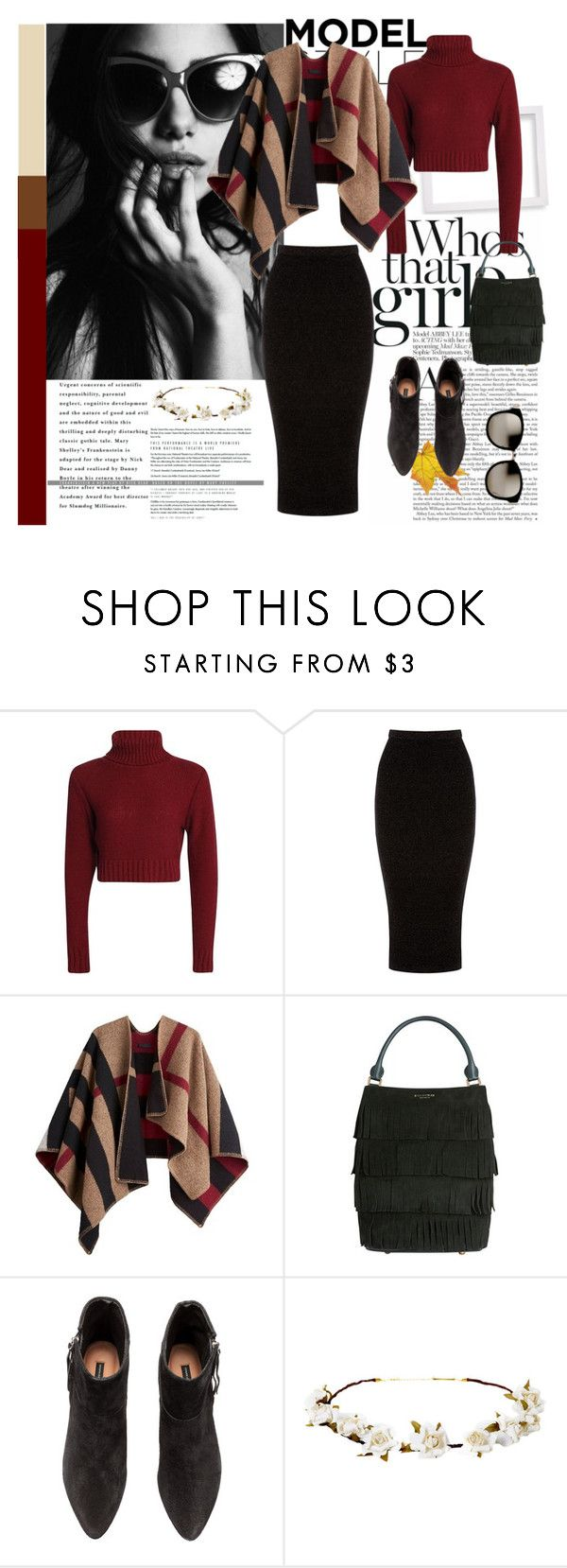 """""""Autumn Vibe"""" by freisstea on Polyvore featuring Warehouse, Burberry, H&M, Cult Gaia and Linda Farrow"""