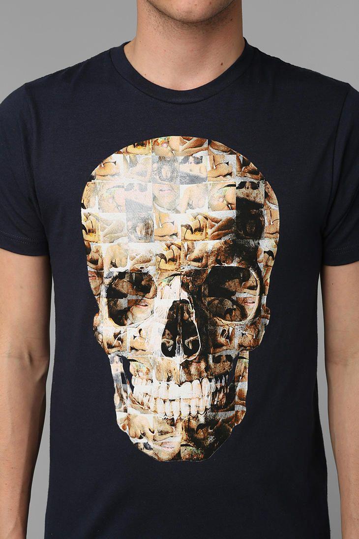 Shirts human design - Photo Skull Tee Urbanoutfitters