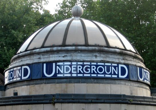 The cupola at Clapham Common Underground Station (late Victorian, c. 1900)