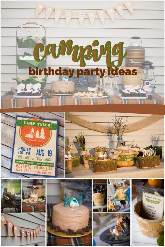 Need A Birthday Party Theme How About An Awesome Camping In Your Own Backyard