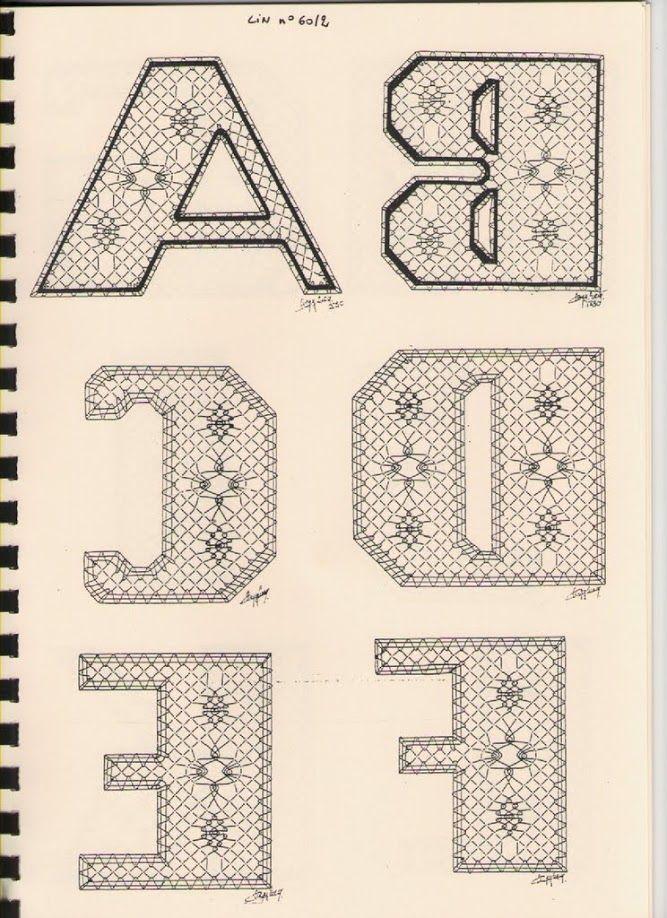 Alphabet A à F Torchon