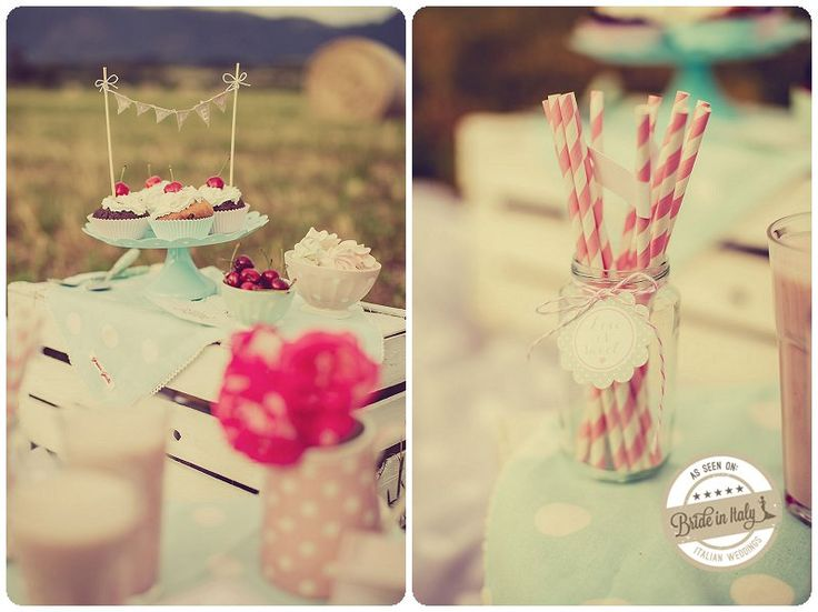 A romantic wedding candy bar by PinkFrilly, ph Giuseppe Voci http://www.brideinitaly.com/2013/09/pinkfrilly-50s.html