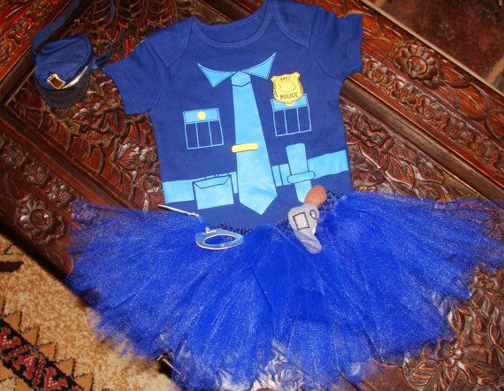 Boutique Baby Girls Police Outfit Halloween by HandpickedHandmade