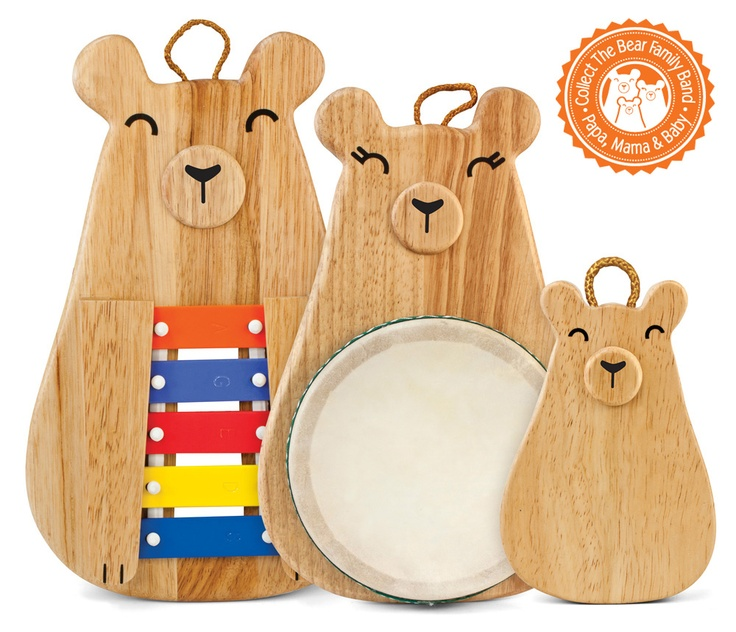 Collect the entire green tones® Bear Family Band and help your child learn the benefits of sharing! #green tones® #eco instruments & toys