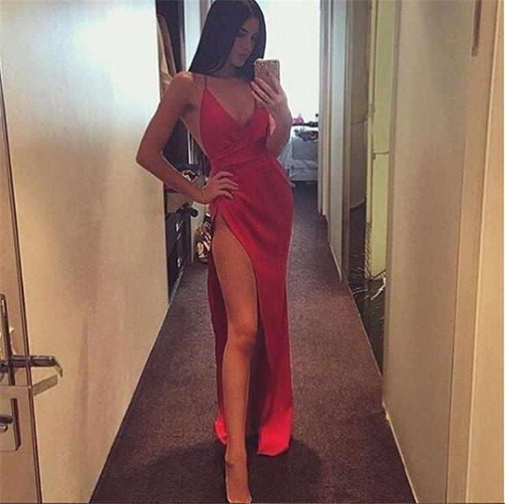 Sexy Silk Maxi Long Party Dress