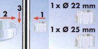 Tenrit - Seifenschale für Duschstangen mit Ø 22mm / 25mm