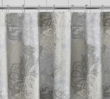 Willow Shower Curtain, Gray