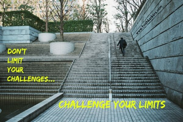 #MotivationMonday Do you place limits on the challenges presented to you? What if you lifted those limits? what then could you achieve? #challengeyourlimits #nolimits #challengecreateschange