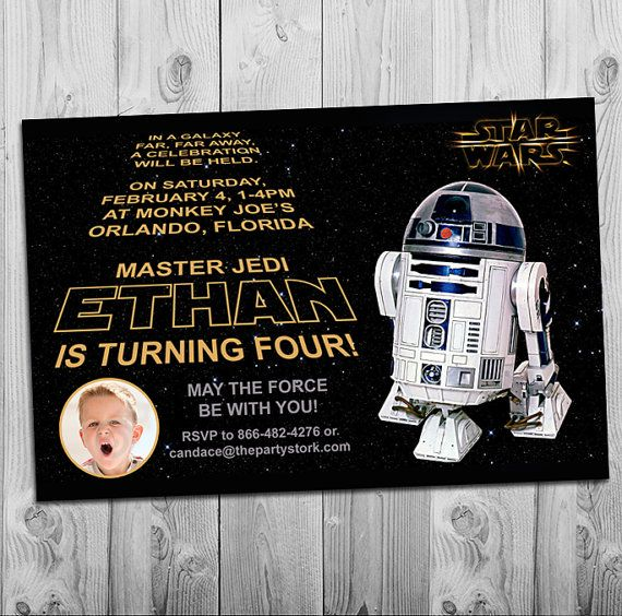 Star Wars Birthday Party Invitations Are Perfect For Your Little