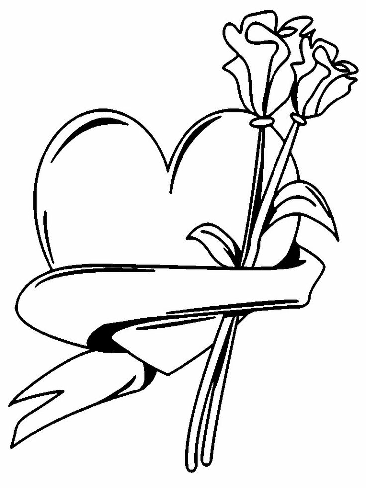 flower and hearts coloring pages | Pin by sania indira on Valentines Coloring Pages | Pinterest