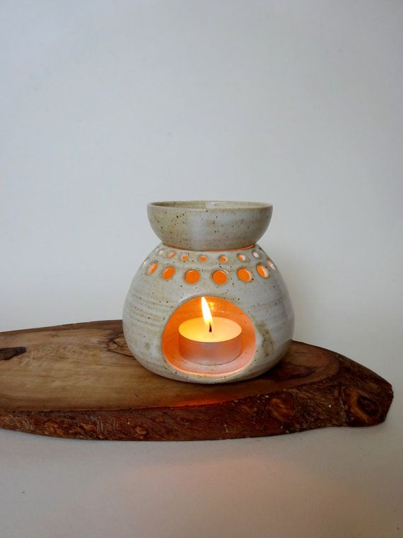 Rustic creamy spotted white Handmade Ceramic by viCeramics on Etsy