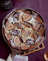 Black Mission Fig Clafoutis Recipe from Food & Wine (For Anna). I am going to try to replace the flour with 1/4 Gluten free flour.