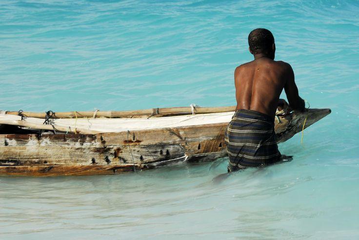 A traditional #Mozambique canoe.