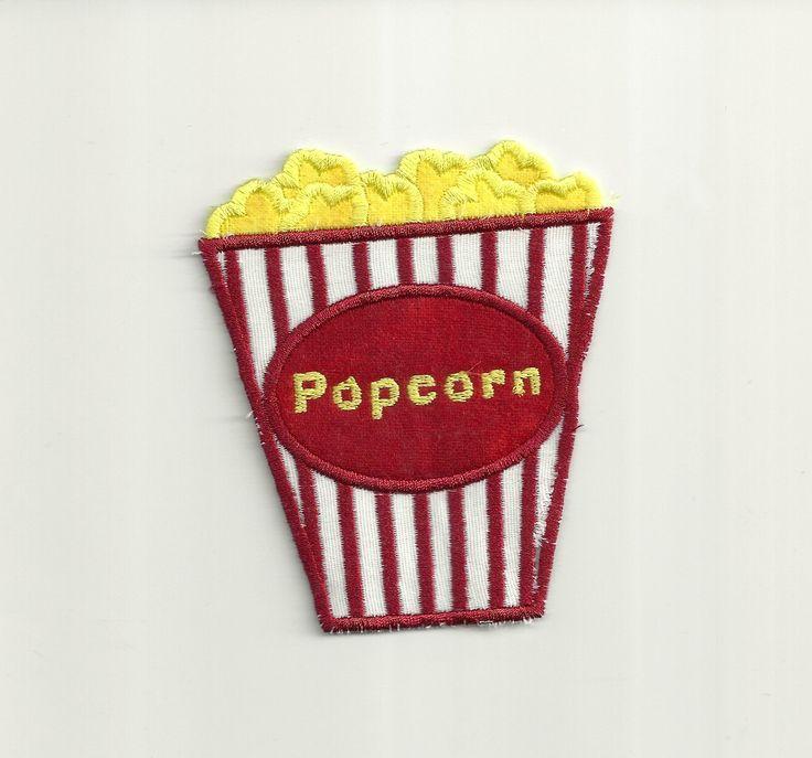 Movie Popcorn, Patch! Custom Made! by PatchNation on Etsy https://www.etsy.com/listing/222462443/movie-popcorn-patch-custom-made