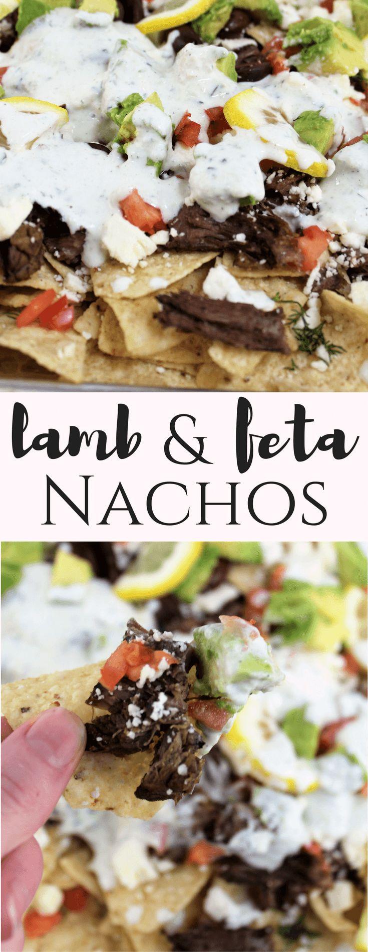 Lamb and Feta Nachos