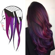 Love how the color is concentrated on the area of hair that would naturally shine.