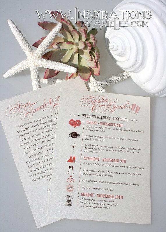 Wedding Itineraries on Etsy, $20.00
