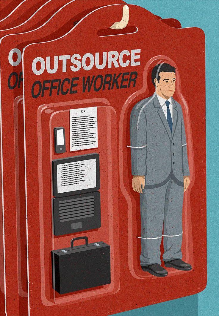 """""""Trabalhador de escritório terceirizado"""""""