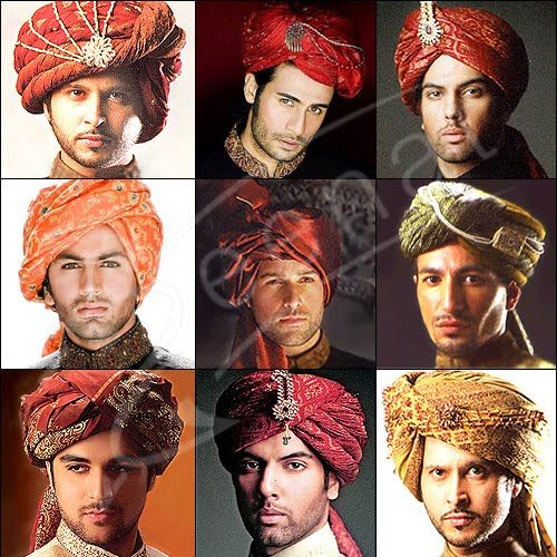 Bridegroom Turban Styles, I could go for any one of these styles, & you?