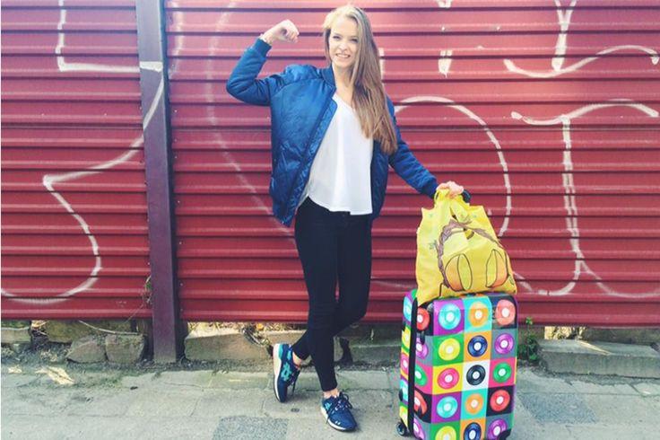 Zuzanna Kołodziejczyk wybrała naszą walizkę Glam LPS i torbę ekologiczną Juicy Beats <3 http://bgberlin.pl/index.php/produkt/walizka-duza-glam-lps/