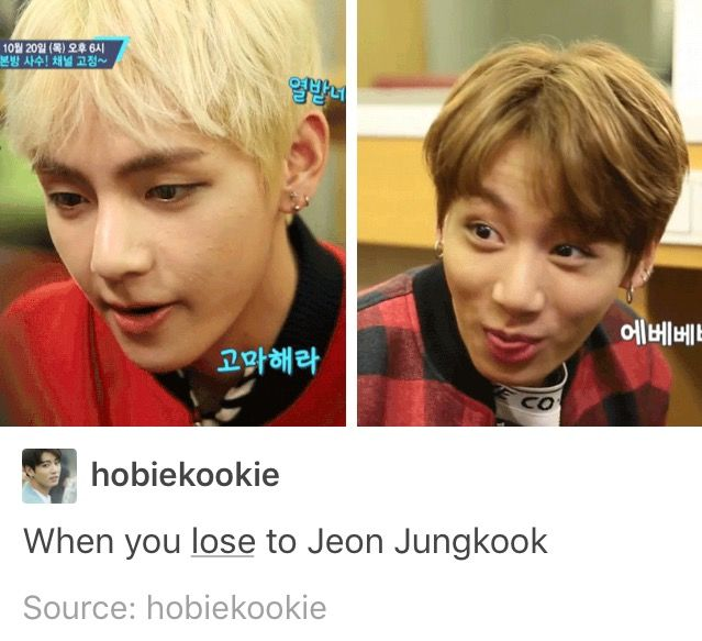 when you lose to jungkook (his face ffs xD)