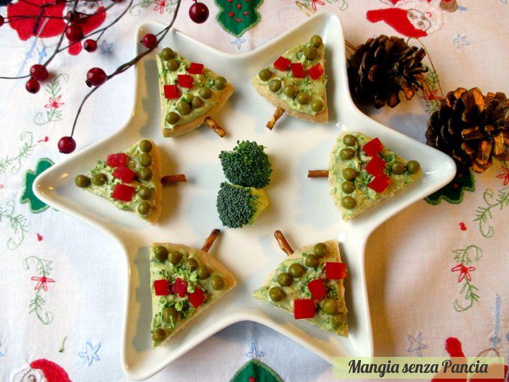 Alberelli di pane pita natalizi