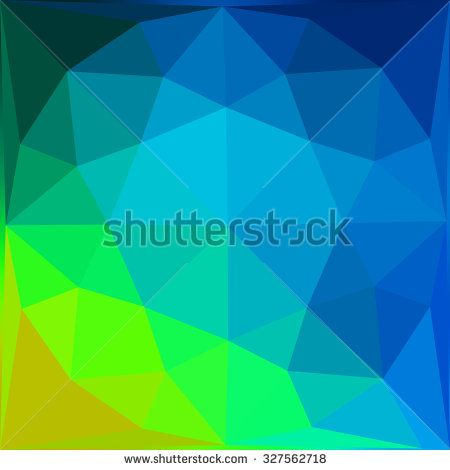 Multicolor blue green gradient geometric pattern. Triangles background. Polygonal raster abstract for your design. Cool background image for websites.