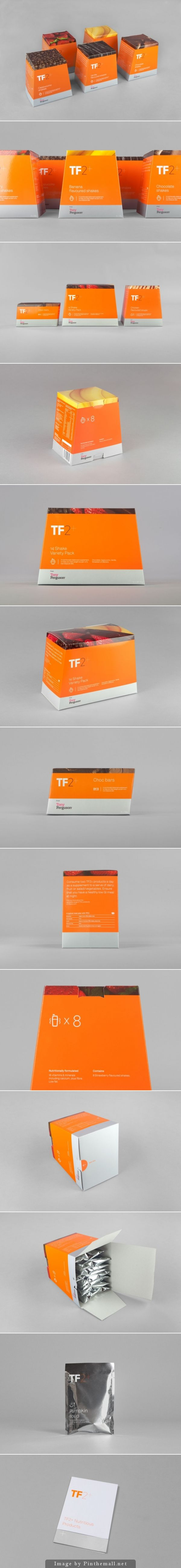 TF2 by Maud for the 'do it your­self' weight loss category #packaging curated by Packaging Diva PD created via http://retaildesignblog.net/2013/11/12/tf2-branding-by-maud/