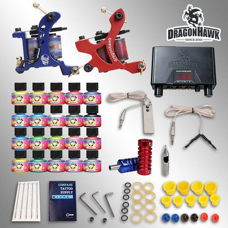 Complete tattoo kits 2 machines20 setimmortal tattoo inks