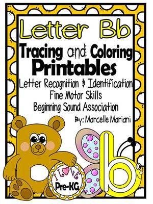 letter b pre kg worksheets tracing and coloring letter recognition identification for letter. Black Bedroom Furniture Sets. Home Design Ideas