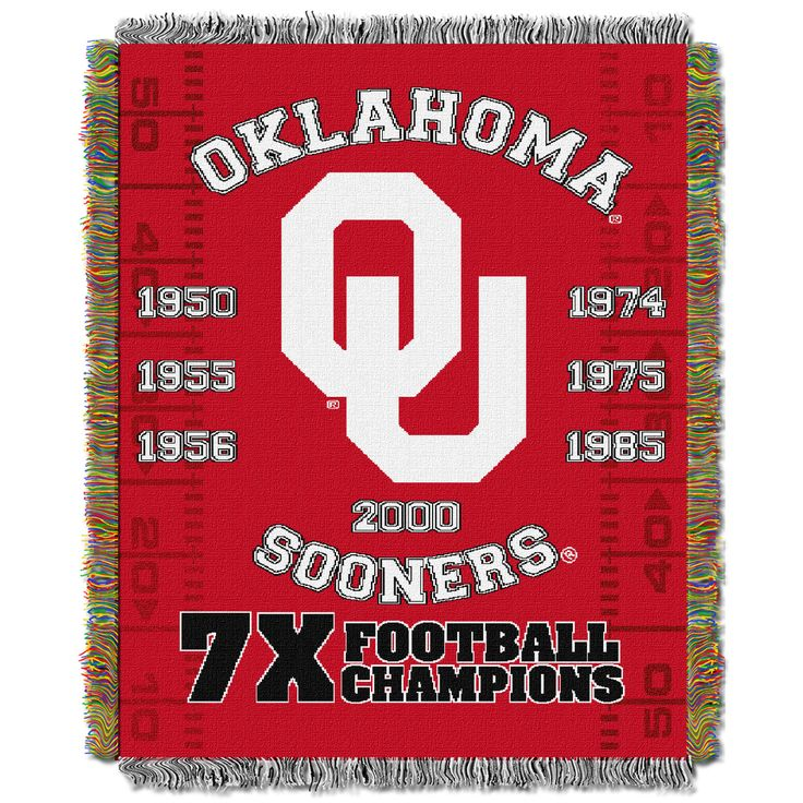 "Oklahoma College """"Commemorative"""" 48x60 Tapestry Throw"