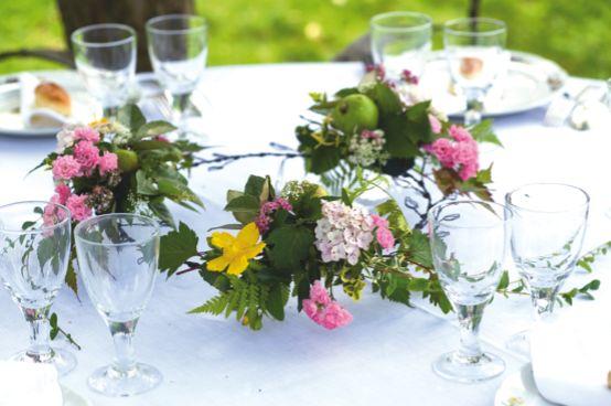 Milieu de table fleuri - Creacorner