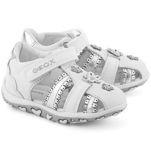 Baby Bubble - Białe Skórzane Sandały Dziecięce - B62E6C 085KY C0007