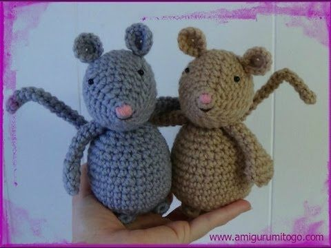 How To Crochet A Mouse - YouTube