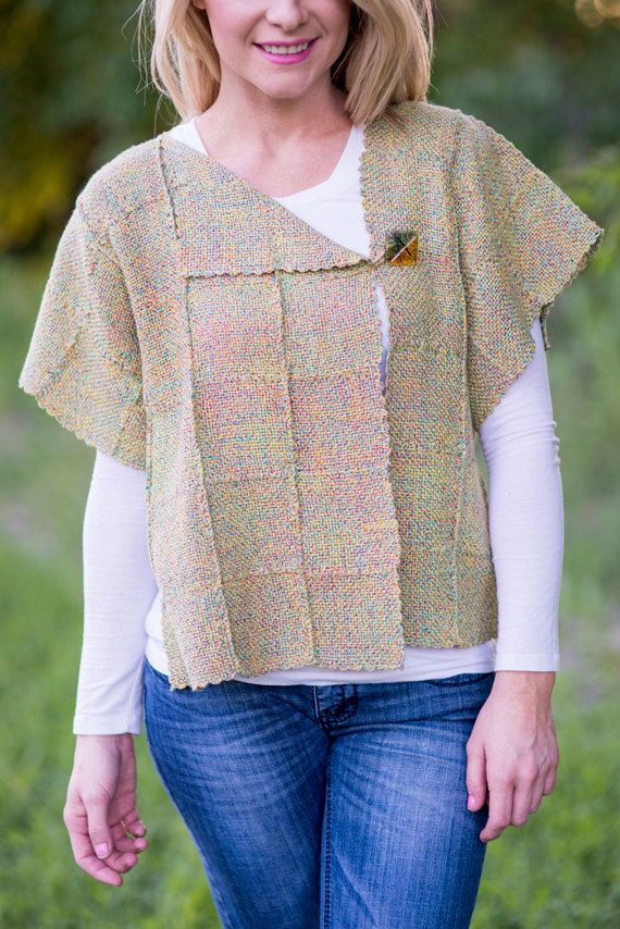 Spring Jacket PDF Weaving Pattern for Pin or Zoom by ZoZoFiberArts