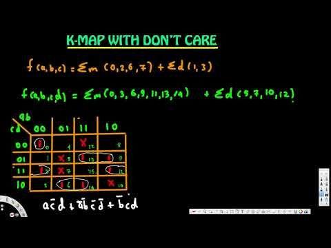 K-Map with don't care - Digital Logic Design 1