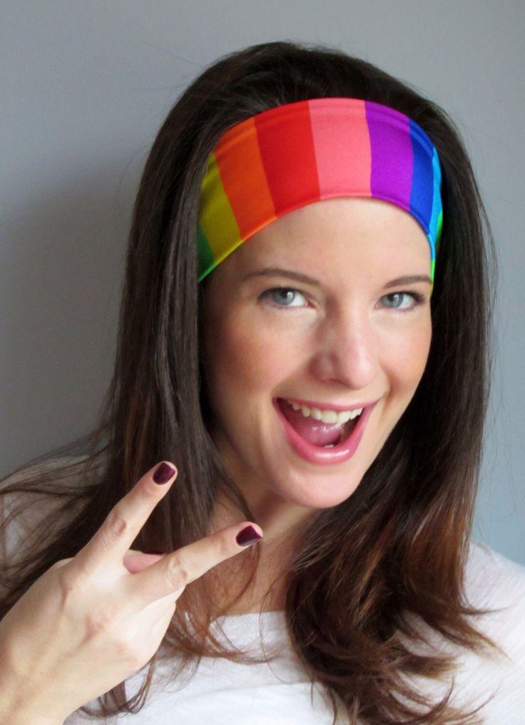 Rainbow Headband , Rainbow Pride Headband, PFLAG Headband ...
