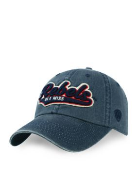 Top Of The World Ole Miss Rebels Park Hat - Navy - One Size