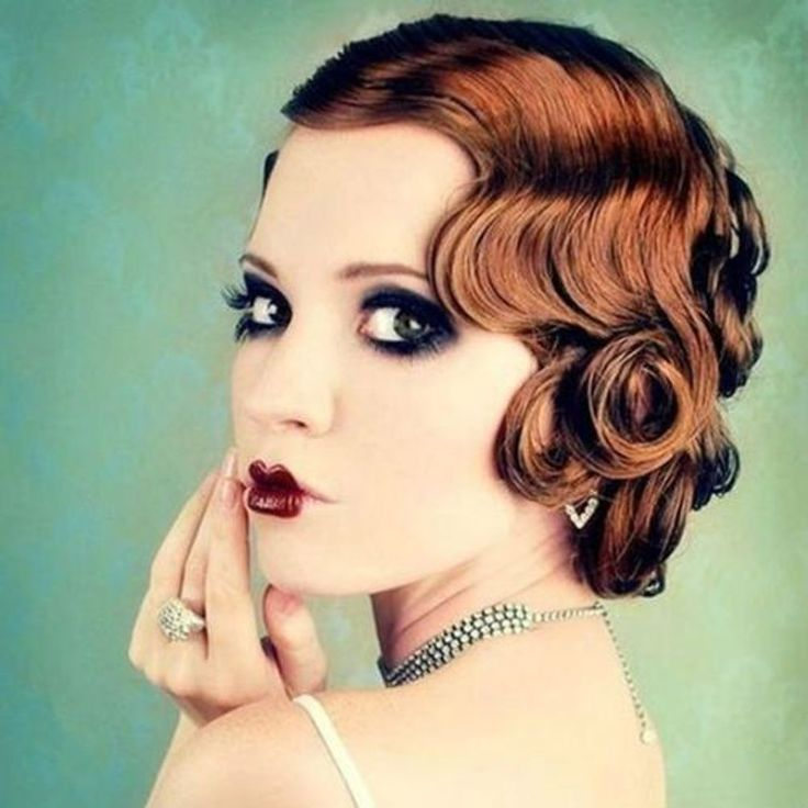 flapper hairstyles for curly hair - 736×736