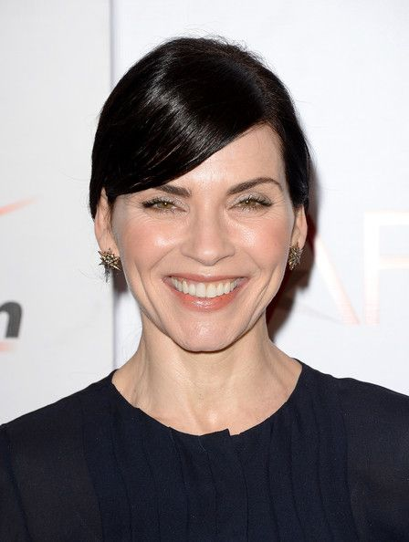 Julianna Margulies Ponytail - Julianna Margulies sported a ponytail with…