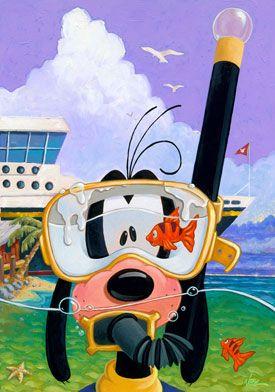 Randy Noble - Goofy: Goofy Disney, Disney World Tips, Disney Goofy, Things Disney, Discover Disneyland, Disney Cartoon Pixar, Goofy Watercolor, Disney Cruises, Cartoonmag Disney