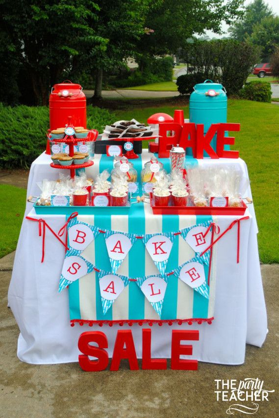 Host a charity bake sale for summer break fun | http://thepartyteacher.com/2015/07/13/my-parties-how-to-plan-a-bake-sale-in-7-steps/