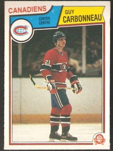 1983-84-O-Pee-Chee-185-GUY-CARBONNEAU-Rookie-Card-Canadiens-OPC-Hockey-RC-NM-MT